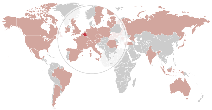 Map of participating countries worldwide